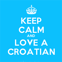 Keep Calm Love Croatian